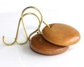 Camel Tagua Nut Earrings - 'Senseless Evidence'
