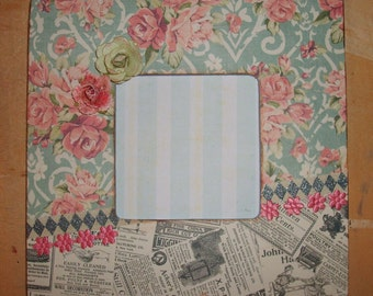 Chic Shabby Decoupaged Picture Frame