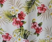 Beautiful Cotton Hawaiian Print  (yardage Available)