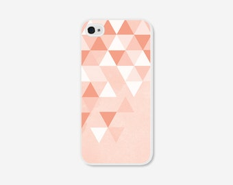 iPhone 6 Plus Case Geometric iPhone 6 Case Ombre iPhone 5 Case Coral iPhone 5c Case Peach iPhone 5s Case Pink iPhone 4s Case