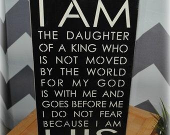 I AM HIS wood sign