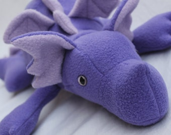Purple Plush Baby Dragon