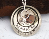 Wedding Ring Necklace, Charm Necklace, Personalized Jewelry, Wedding, Bridal, Anniversary, Gift for Her