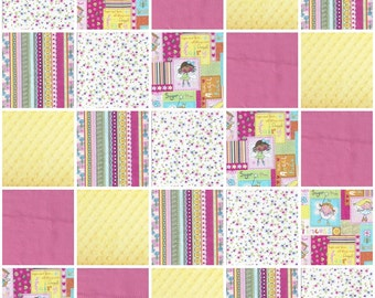 Baby girl Rag quilt  NEW Sweet Fairy princess pink and yellow