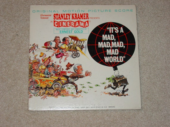 "Vintage Vinyl LP Record Album "" It's A Mad, Mad, Mad, Mad, World "" Movie Soundtrack"
