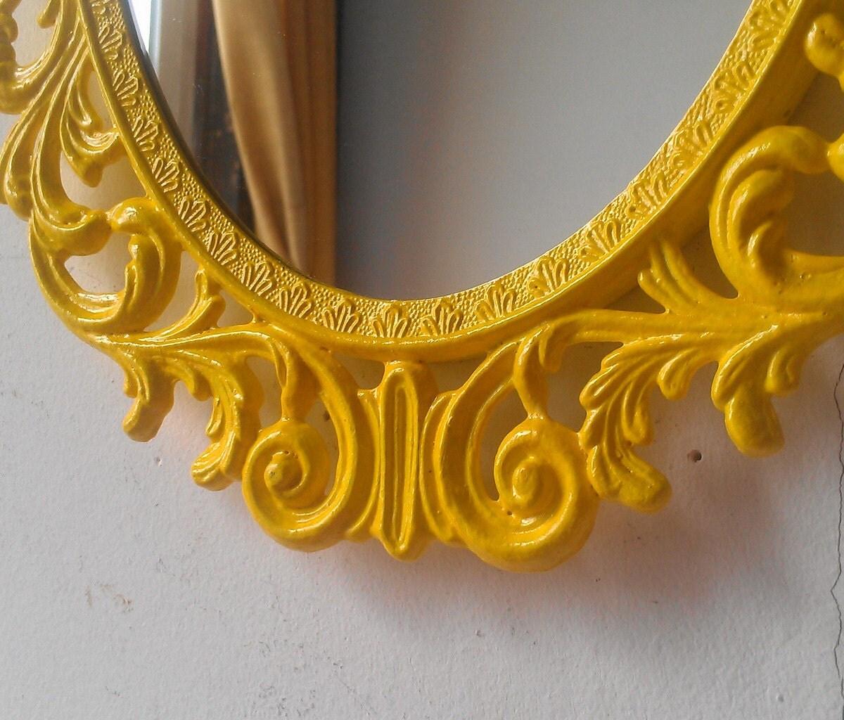Yellow wall mirror boho chic dorm retro kitchen yellow zoom amipublicfo Images