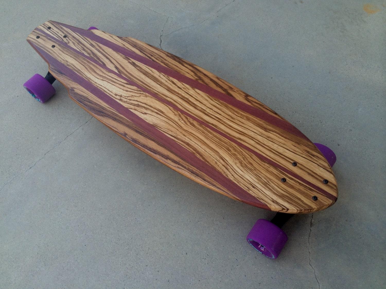 Exotic Wood Skateboard Zebrawood W Purpleheart