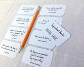 Inspirational Quote Cards - Mini Cards - Inspiring Quotes - Quotable Quotes - 2 x 3.5