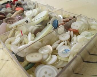 DESTASH button box treasures - vintage buttons