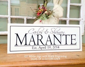 Wedding Sign..... Carved Personalized Family Name Sign 8X20..Awesome Gift 4S1