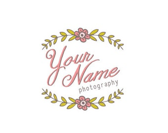 Photography Logo & Watermark - Pre-made - Folk Flower