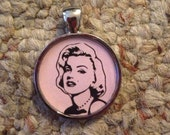 Pop Culture Icon Marilyn Monroe Image Pendant Necklace-FREE SHIPPING-