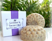 Lavender and Coconut Milk Soap, natural essential oils and smooth colloidal oats - gently exfoliating triple butters savon