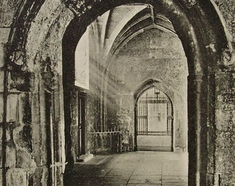 Great Cloister, Westminster Abbey, London, England - Unused Vintage Postcard