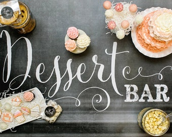 Chalkboard Dessert Bar Poster
