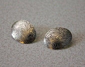 Sterling silver stamped earrings