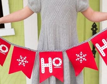 Ho Ho Ho Banner in Red
