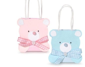 Set of 48 Teddy Bear Party Favor Bags Baby Shower Party Favor Eco Friendly