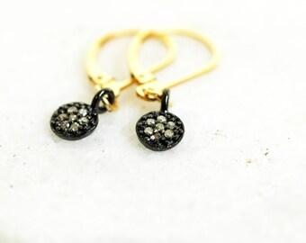 Raw Diamond Earrings / Lucky Seven / Minimalist