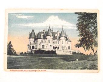 Vintage Hand Tinted Postcard Birnam House, East Northfield, Massachusetts