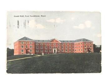 1913 Antique Postcard Gould Hall, East Northfield, Massachusetts