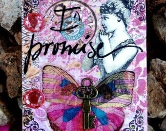 I Promise  Altered Victorian Themed Wall Hook By AlteredHead On Etsy Home Decor Wall Art Etsy Home Boudior Art Wall Hook