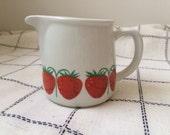 Arabia Finland Pomona Strawberry Creamer Small Jug