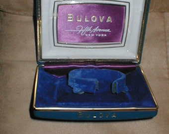 Vintage 1950's BULOVA Watch Box