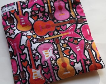 Reusable Eco Friendly Sandwich or Snack Pink Guitar