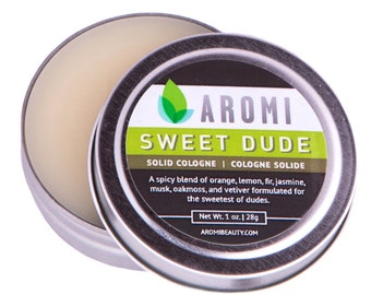 Solid Cologne, Sweet Dude.  Men's Gift. Men's Fragrance. Men's Cologne.  Solid Fragrance.