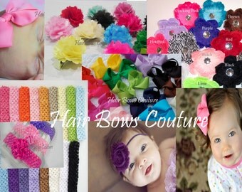 Set of 30  Toddler Bows Infant Bow Pink Hair Bows Headbands Wholesale Hair Bows Infant Clippies Flower Headbands Infant Headbands  clearance
