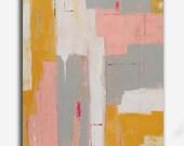 Abstract Painting,Original Abstract Art,Colorful Art,Acrylic Painting Yellow, pink & gray Original Painting