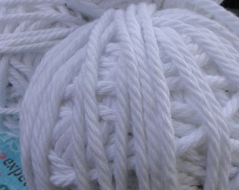 """15 yards 1/8"""" ( 3.2 mm ) White cotton cord rope white cotton string"""