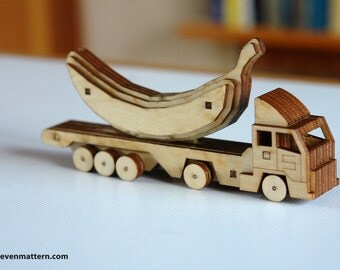 18 Wheeler Toy Kit - Build Your Own!