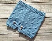 SALE / Knit Cowl /  Blue  / Women Teen