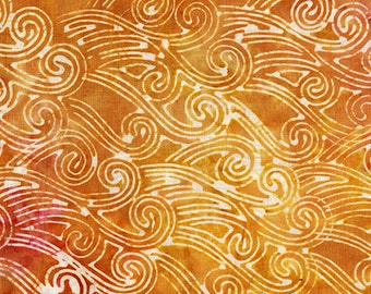 Boutiques by Lonni Rossi for Andover Fabrics - Orange Yellow Waves or Wind Batik