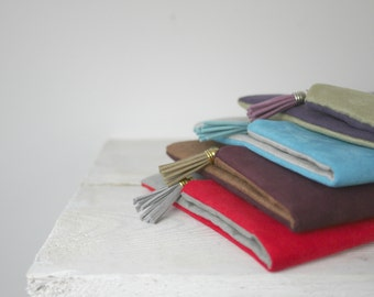 Set of Bridesmaids clutches, Bridesmaids clutch set, fold over purses in the color of your choice