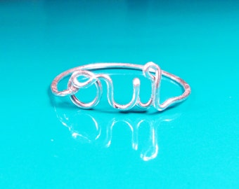 OUI Ring-Promise Ring-Yes I Do Ring-Dainty Wire Wrapped Ring-Simple Ring-Best Friend Ring-Yes I do Jewelry-Sterling Silver-Gold-Rose Gold