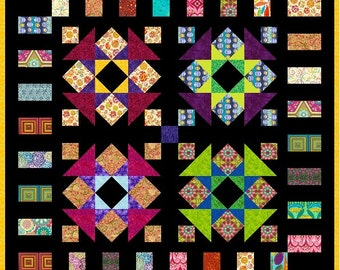 "QUIRKY WORK - 50.5"" - Quilt-Addicts Pre-cut Quilt Kit or Finished Quilt Lap size"
