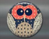 """3.5"""" cute owl fridge magnet, owl art magnet, kitchen decor, large owl magnet for fridge, big magnet MA-1004"""