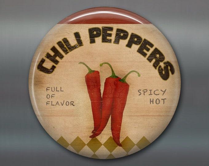 Refrigerator Magnets, hot pepper magnet, food fridge magnet, kitchen decor, large fridge magnet,  food decor, housewarming gift  MA-1635