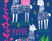 Happy Alpacas by Sarah Walsh