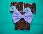 Female Dog Diaper / Panties - Brown With Teal and Lavender Flowers