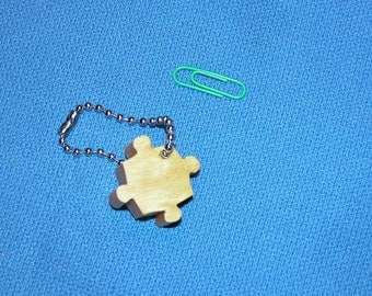 Puzzle Piece - Key Chain with a Wooden Puzzle Piece Shape - Key Holder