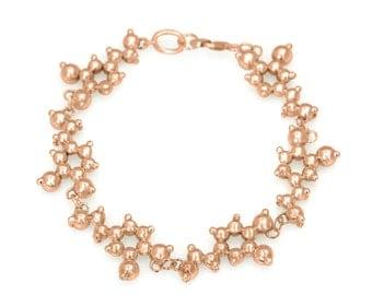 Dopamine Molecule Bracelet (for passion) 18k Rose or Yellow Gold Vermeil