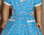 Daisy Print 1930's Style Dress For American Girl Or Similar 18-Inch Dolls