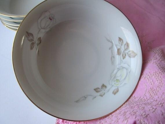 Vintage Johann Haviland Sweetheart Rose Bavarian Dessert Bowls Set of Six
