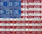 """License Plate Flag of The United States Metal Artwork - 36"""" x 26"""""""
