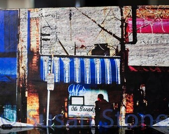 Al's Breakfast, 12x18 inch fine art photo on wood panel, wall art, home decor, Minnesota photo, Minneapolis art