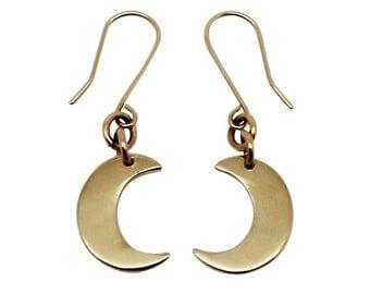 Little Moon 9K Gold Earrings, 9ct gold earrings, 9ct gold moon earrings, moon earrings, gold moon earrings